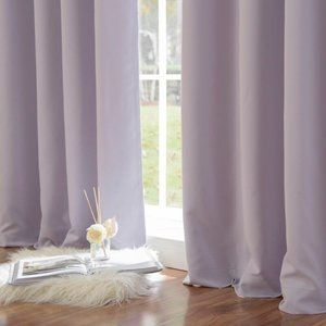Set of 2 Blackout Thermal Lilac Curtains